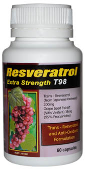 Trans Resveratrol T98 - Purchase yours Today.