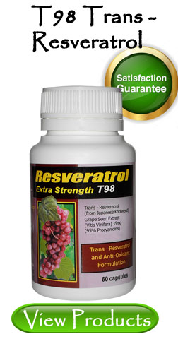 Great Deals on our T98 Trans Resveratrol Product.
